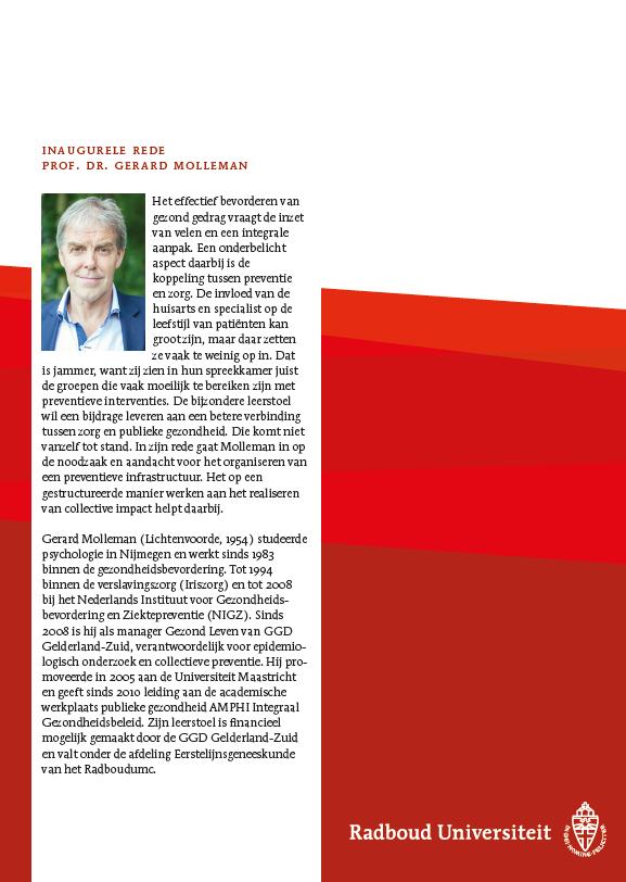 Tekst inaugurele rede Prof. dr. Gerard Molleman
